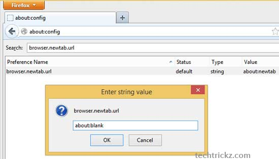Make New Tab Page Blank In Chrome And Firefox - Techtrickz