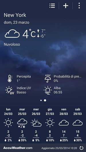 galaxy s5 weather widget not showing