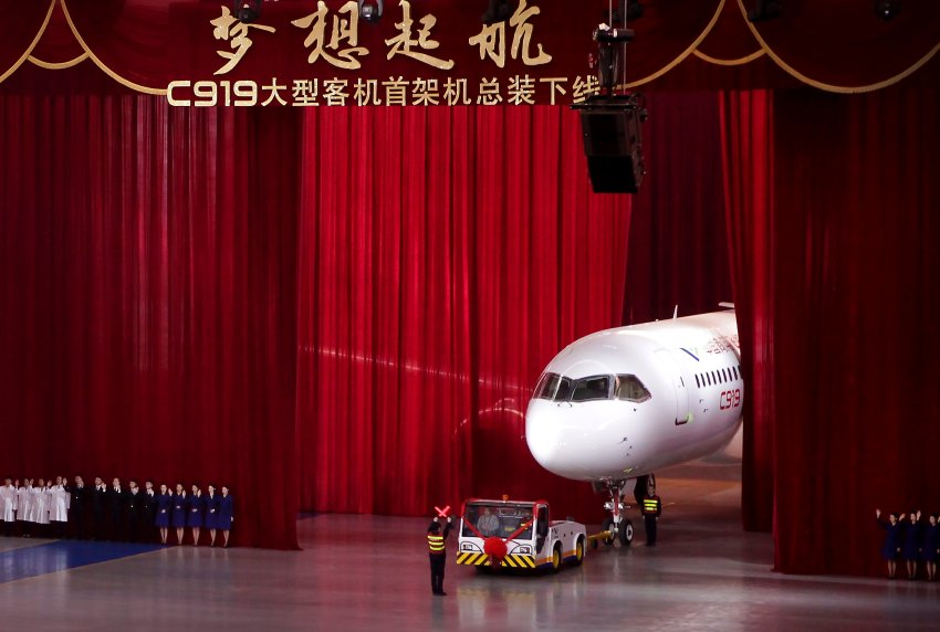 Comac C919 is China's first homegrown large passenger jet