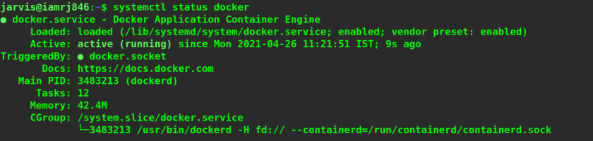 Install Docker on Ubuntu step 7