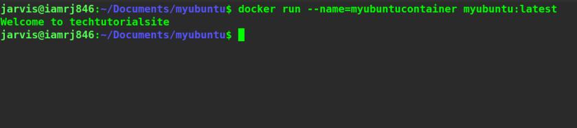 Docker run command