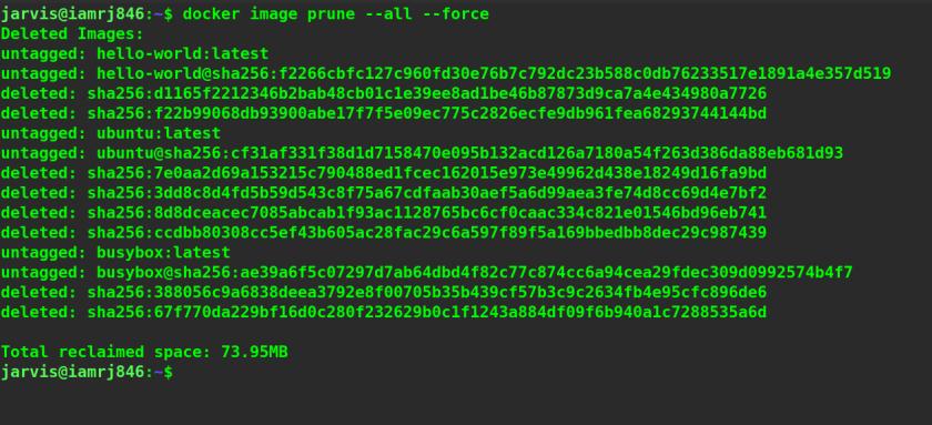 Docker Image Prune