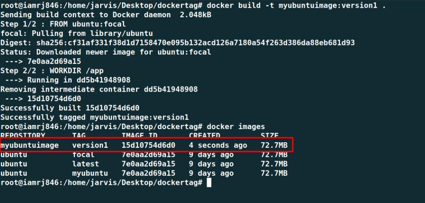Use Tags in Docker Build