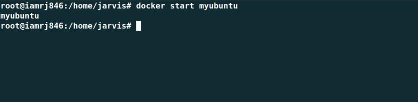 Docker start container
