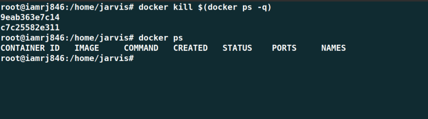 Kill all Docker Containers at once