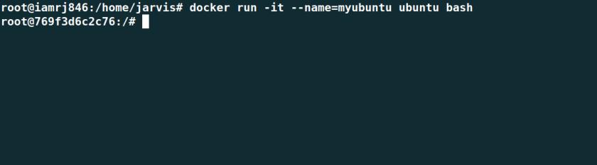 Run an Ubuntu container