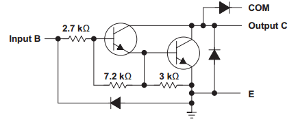 Darlington pair electric schematic.