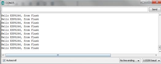 ESP8266: HTTP GET Requests to Flask server – techtutorialsx