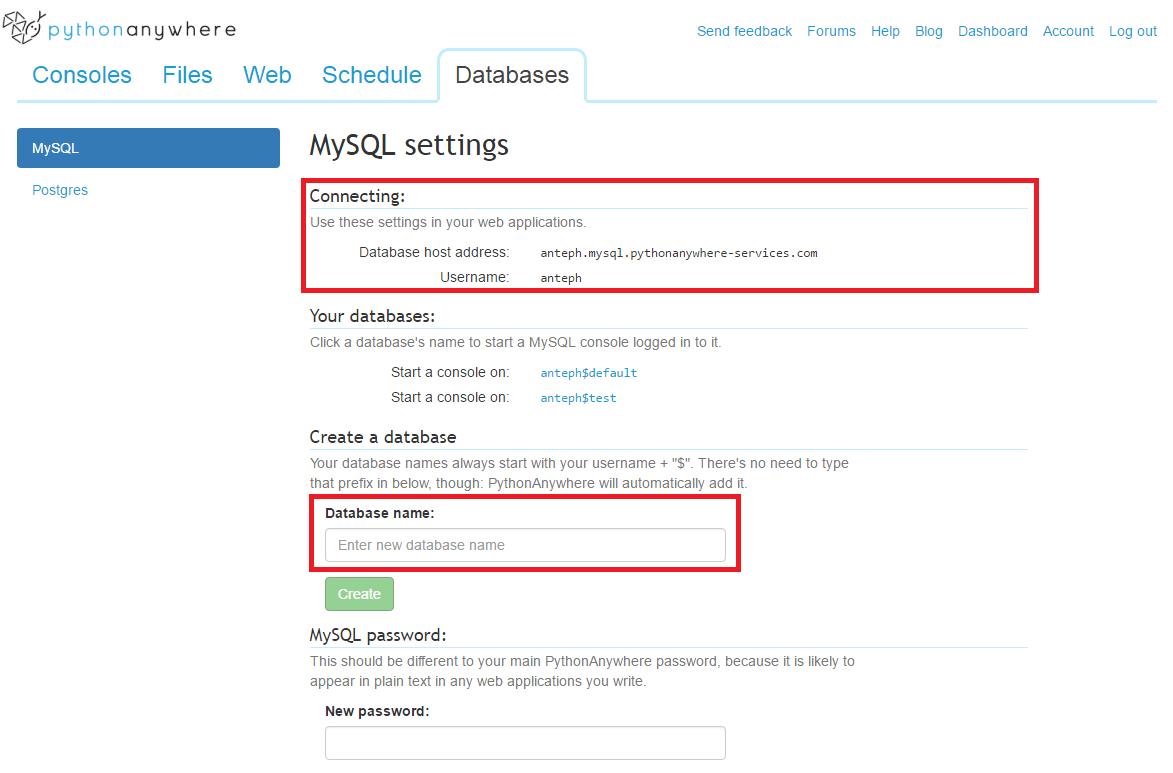 Python anywhere db tab configuration.png