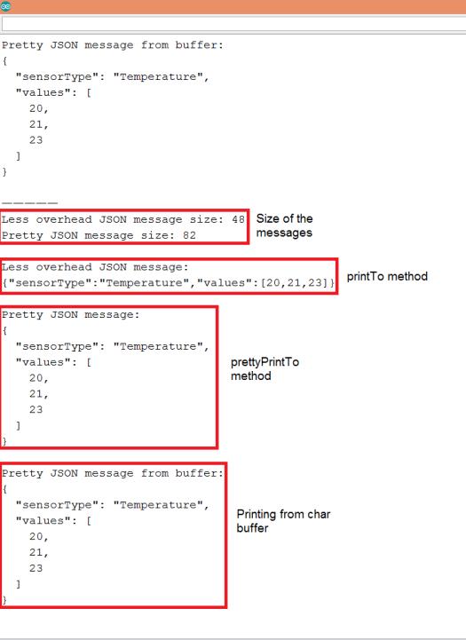 ESP32 Encoding JSON messages