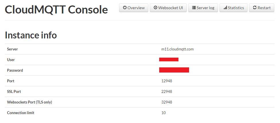 ESP8266 CloudMQTT Credentials