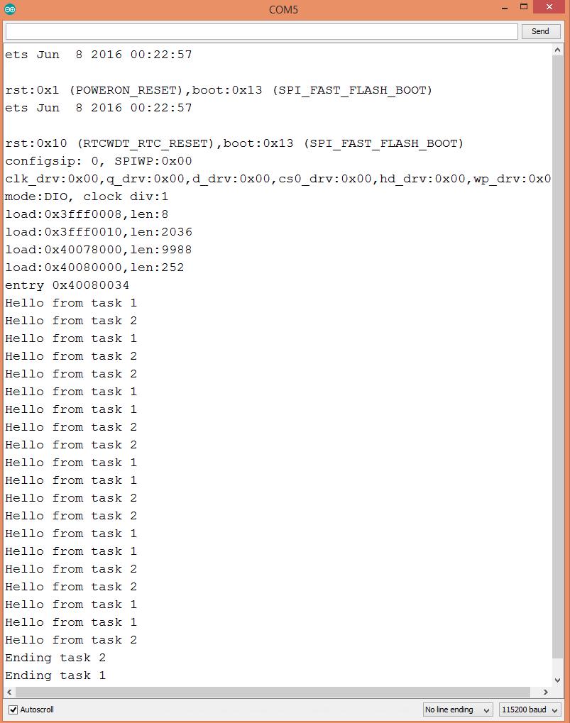 ESP32 Create FreeRTOS Task