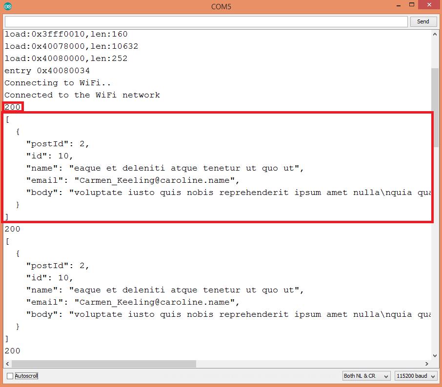 ESP32 HTTP GET request