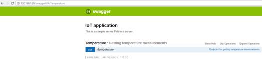 ESP8266 Swagger UI expand Temperature API