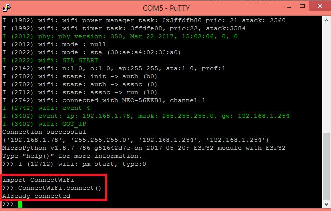 ESP32 / ESP8266 MicroPython: Automatic connection to WiFi