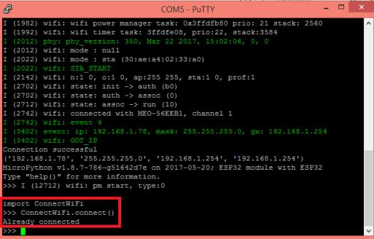 ESP32 ESP8266 MicroPython Already connected WiFi