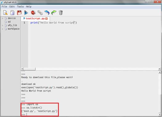 uPyCraft upload script in file system.png