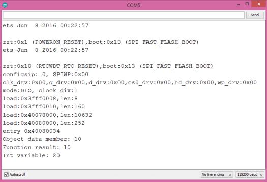 ESP32 ESP8266 Auto keyword program result