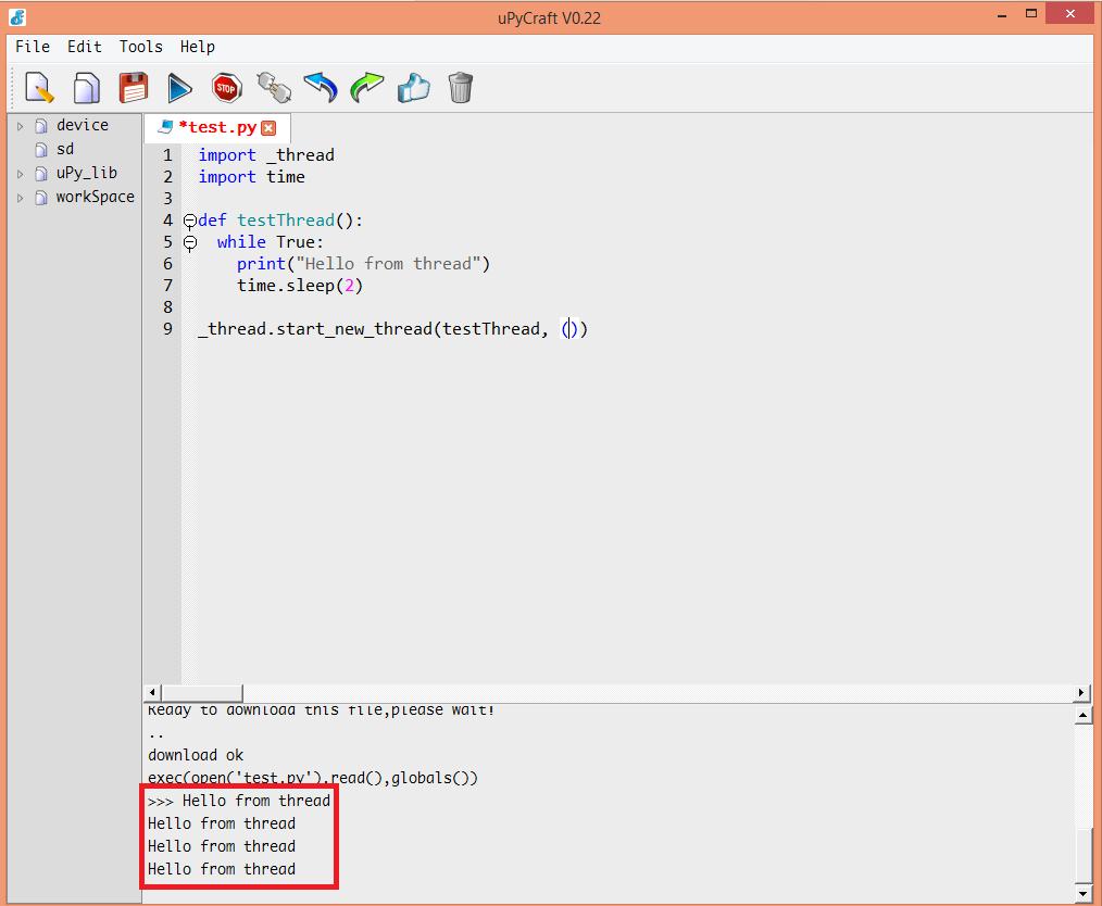 ESP32 MicroPython: Creating a thread – techtutorialsx