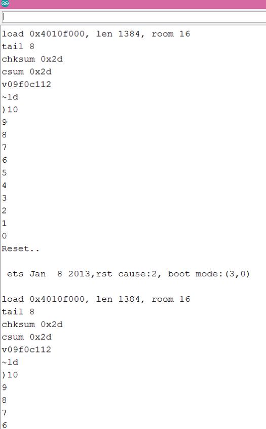ESP8266 Arduino software reset