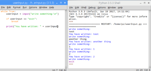 Python Rasperry Pi 3 user input from prompt.png