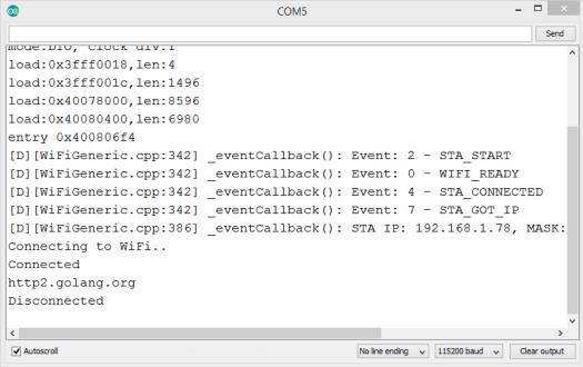 ESP32 Arduino connect to HTTP2 server