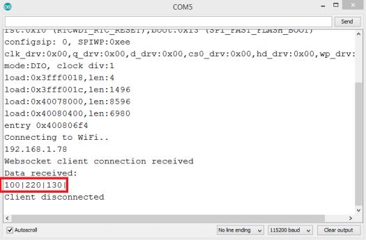 ESP32 websocket server: receiving binary frames – techtutorialsx