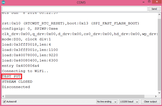 Response to PUT HTTP/2 request sent from the ESP32, using the Arduino core