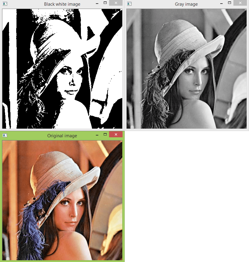 Python OpenCV: Converting an image to black and white