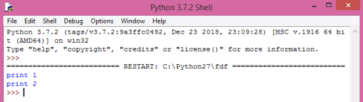 Output of two print function calls in Python.
