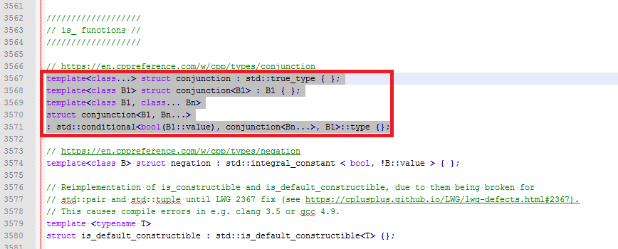 Highlight of the Nlohmann/json library lines of code that clash with the binary.h file from the Arduino core.