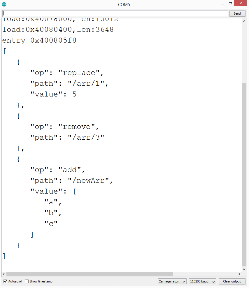 JSON diff over array properties.