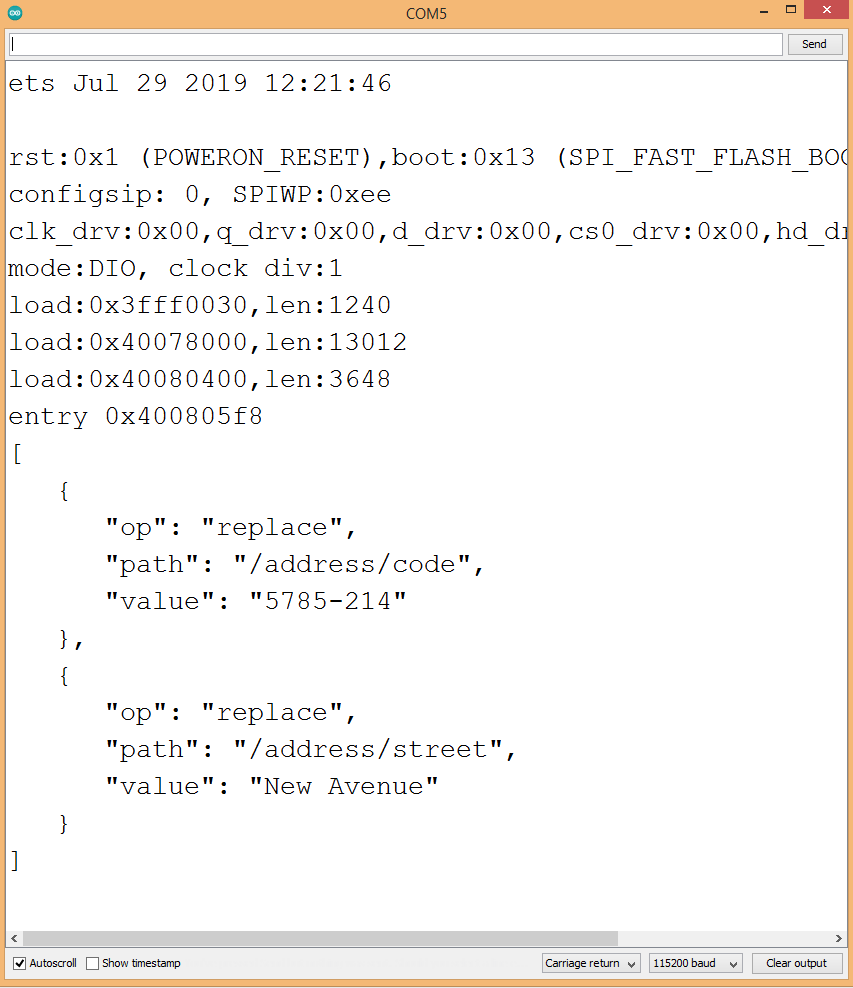Diff operation on nested JSON properties.