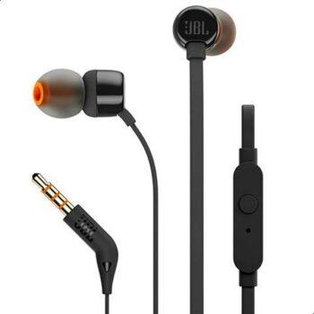 JBL T110 Wired In-Ear Earphones – Black