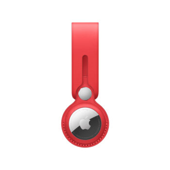 Apple AirTag Leather Loop – (PRODUCT)RED