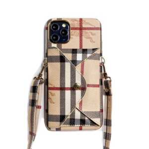 Burberry Wallet Case Shoulder Cover for iPhone 12,...