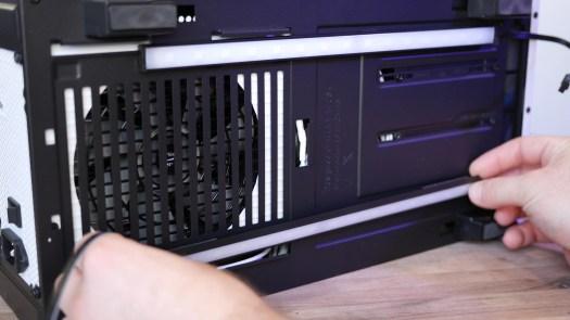 NZXT RGB 200mm Underglow Strips installed under NZXT H500