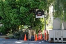 Hier wurde schon länger kein Basketball mehr gespielt