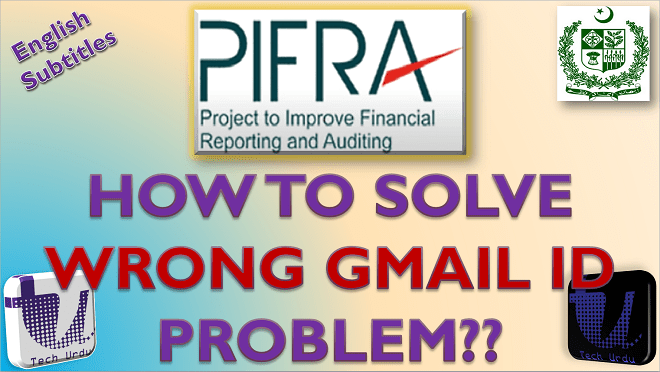 wrong gmail problem on pifra