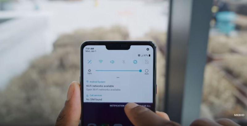 LG G7 Thinq - MKBHD - display toggle- tech urdu