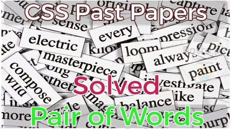 Pair of Words Solved - Tech Urdu