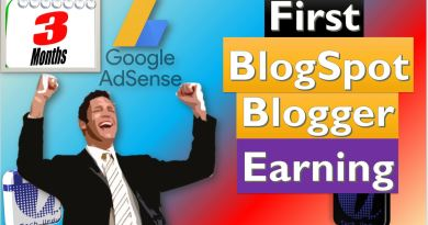 First Blogspot Blogger Adsense Earning - Tech Urdu