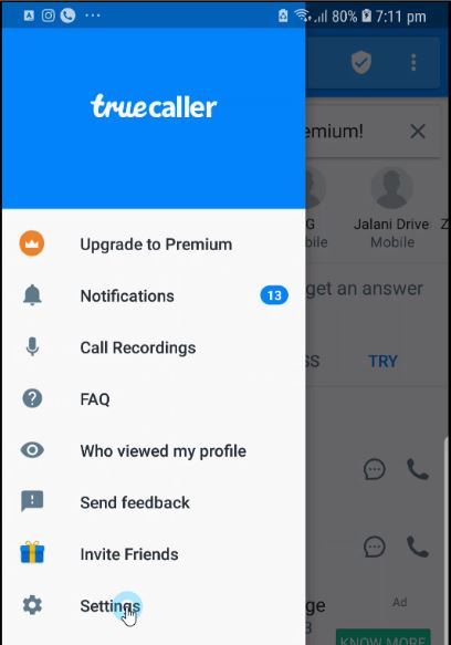 Identify Unknown WhatsApp Number with True Caller App