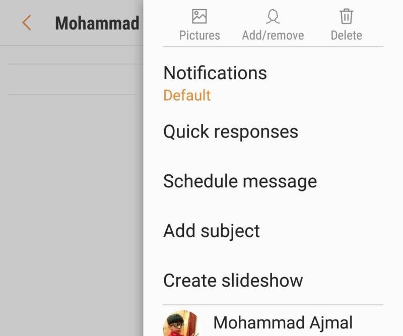 Scheduled Message in Note 9