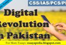 Digital Revolution in Pakistan | Complete Essay with Outline