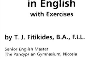 Common Mistakes in English with Exercises by T.J. Fitikides, B.A., F.I.L. - Tech Urdu
