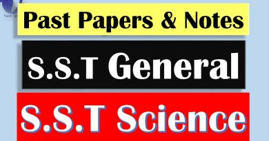 S.S.T General & S.S.T Science Past Question Papers & Notes (Free Download) - Tech Urdu