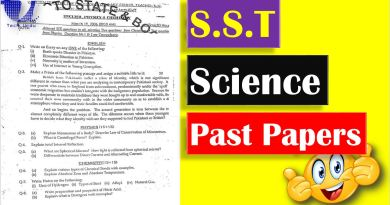 S.S.T (Science) Past Papers - S.ST Science Past Papers BPSC - Tech Urdu