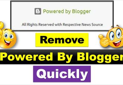 Here are three (03) Ways to Remove Powered By Blogger from a Blogger Site - allpaknotifications.com