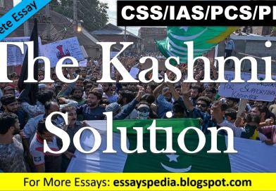 The Kashmir Solution | Complete Free Essay with Outline - techurdu.net